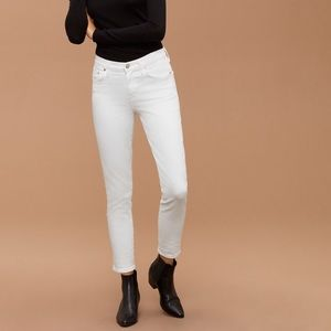 CITIZENS OF HUMANITY ROCKET CROP WHITE JEANS